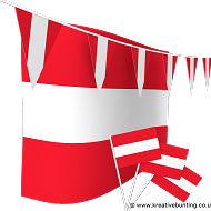 Austria Football Bunting & Flag Bundle